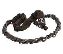 Second Hand  Haarband aus Leder mit Kette