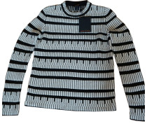 Second Hand  Pullover in Schwarz/Weiß