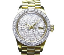 "Second Hand  ""Datejust President 18K Gold 15 Diamonds"""