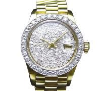 "Second Hand  ""Datejust President 18K Gold 15 Diamonds"""