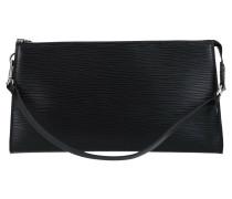 Second Hand Pochette Accessoires aus Leder in Schwarz