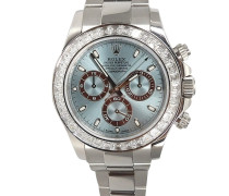 Second Hand  Rolex Daytona Ice Blue mit Diamanten