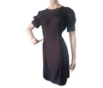 Second Hand  Kleid aus Seide in Schwarz
