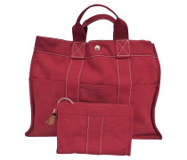 Second Hand  Roter Shopper aus Canvas