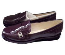 Second Hand  Loafer aus Lackleder