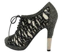 Second Hand  Ankle Boots in Schwarz/Weiß