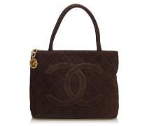 Second Hand  Medaillon Bag aus Wildleder in Braun