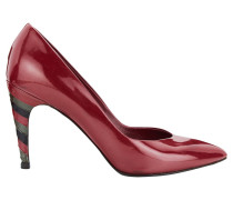Second Hand  Pumps/Peeptoes aus Lackleder in Rot