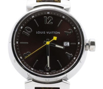 Second Hand  Armbanduhr aus Leder in Braun