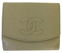 Second Hand  Täschchen/Portemonnaie aus Leder in Creme