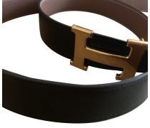 Second Hand  Gürtel aus Leder in Schwarz
