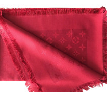 Second Hand  Monogram-Tuch in Rot