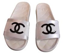 Second Hand Sandalen in Weiß