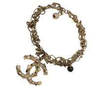 Second Hand  Goldfarbenes Armband mit Logo-Anhänger
