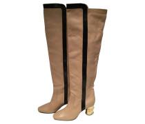 Second Hand  Stiefel in Beige/Schwarz