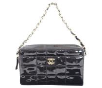 Second Hand Handtasche aus Lackleder in Schwarz