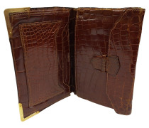 Second Hand  Portemonnaie aus Krokoleder