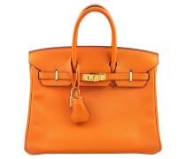 Second Hand  Birkin Bag 25 Swift Leder Orange H