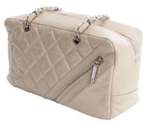Second Hand  Handtasche aus Leder in Creme