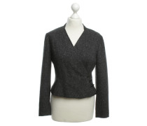 Second Hand  Kaschmir-Blazer in Grau