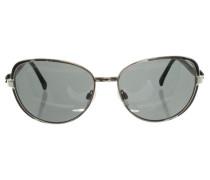 Second Hand  Sonnenbrille in Silber/Schwarz