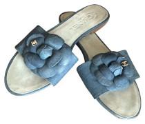 Second Hand  Sandalen aus Baumwolle in Blau