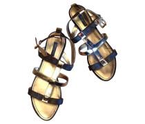 Second Hand  Sandalen aus Leder in Braun