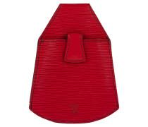 Second Hand  Gürtel aus Leder in Rot