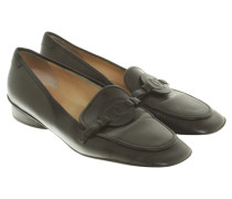 Second Hand  Leder-Slipper in Schwarz