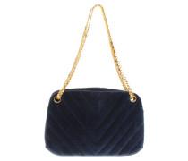 Second Hand  Handtasche in Blau/Gold