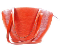 Second Hand  Shopper aus Leder in Rot