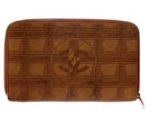 Second Hand  Portemonnaie mit Logo-Muster