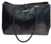 Second Hand  Handtasche in Schwarz