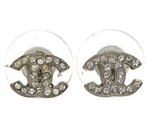 Second Hand  Ohrringe mit Strasssteinen