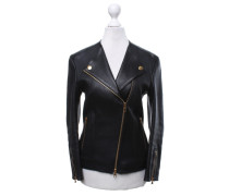 Second Hand  Lederjacke in Schwarz