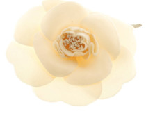 Second Hand  Kamelien-Brosche in Creme