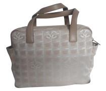 Second Hand  Handtasche aus Canvas in Creme