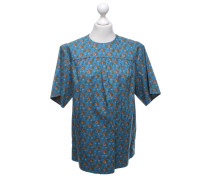 Second Hand  Kurzarm-Bluse mit floralem Muster