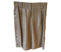 Second Hand  Shorts aus Seide in Beige