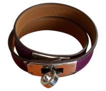 Second Hand  Armbanduhr aus Leder in Violett