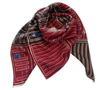 Second Hand  Schal/Tuch aus Seide in Rot