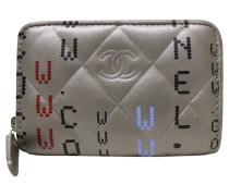 Second Hand Täschchen/Portemonnaie aus Leder in Grau