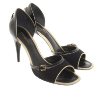 Second Hand  Sandaletten in Schwarz/Gold
