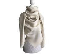 Second Hand  Monogram Tuch aus Seide in Weiß
