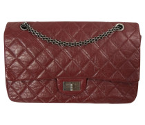 Second Hand  Classic Flap Bag aus Leder in Bordeaux