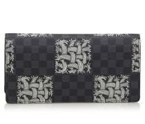 Second Hand  Täschchen/Portemonnaie aus Canvas in Schwarz