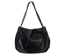 Second Hand  Tote Bag aus Lackleder in Schwarz