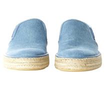 Second Hand  Sandalen aus Jeansstoff in Blau