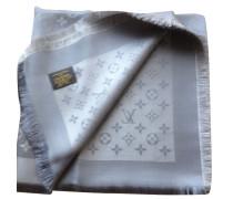 Second Hand  Monogram-Shine-Tuch in Silber/Grau