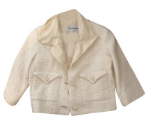 Second Hand  Blazer aus Baumwolle in Creme